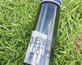 Plastic Water Bottle - New Orleans Water Bottle - Quench Dat Water Bottle - Saints Water Bottle - Fleur De Lis Water Bottle