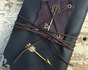 Guard Your Heart: Leather journal, handmade