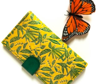 Embossed and Handpainted Leather Wallet