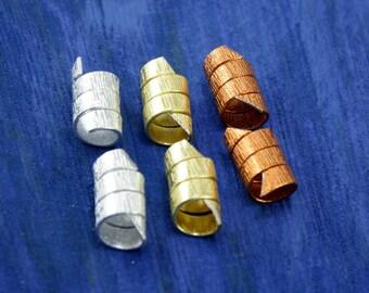 6 Dread coil sets/Dreadlocks beads/Beard beads