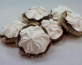 2 Dozen S'mores Marshmallow French Meringue Cookies