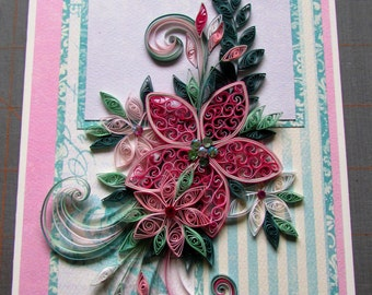 Quilled card instruction sheet