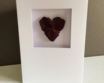 Petal Heart Blank Card