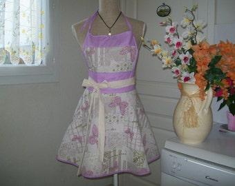 "Retro kitchen apron ""Pamela"" chic and elegant for women"