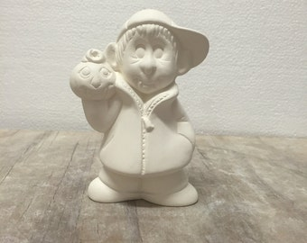 Ceramic Bisque Gangbuster Vampire Ready to Paint