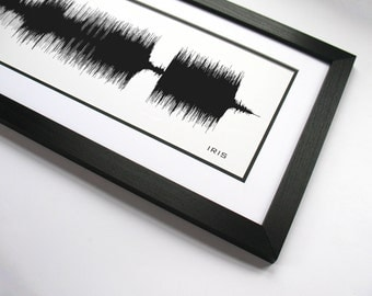 Iris - Panoramic Song Poster Print - Audio Waveform, Unique Wall Decor, Guitar Player Gift, Musician Art