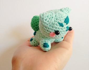 Handmade crocheted amigurumi Bulbasaur Pokemon - MADE TO ORDER -