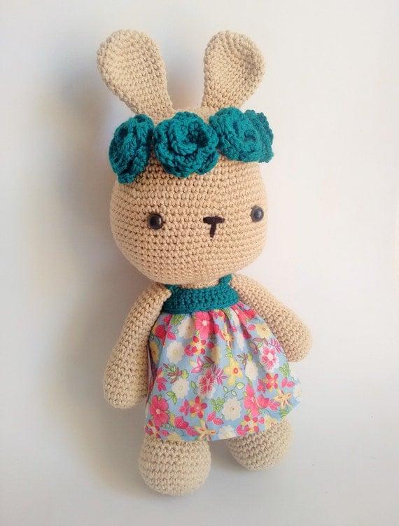 Amigurumi Bunny In Dress : Crochet amigurumi kawaii rabbit with dress and headdress