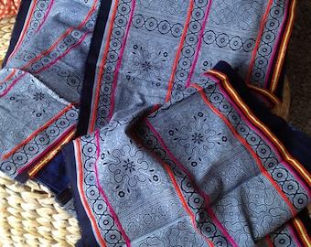 2.5 Yards Thai Hmong Hilltribe Ethnic Fabric 102 / Homespun Cotton Textile