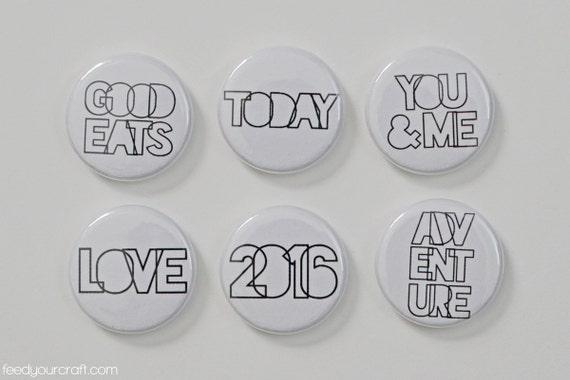Des déclarations claires Flair Mini Badges