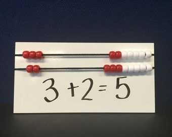 Rekenrek 20-Bead Individual Student Counting Board, Hands On Math Manipulative