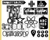 The You've Been Schooled cut file set includes 15 school themed images, that can be used on  your scrapbooking and papercrafting projects.