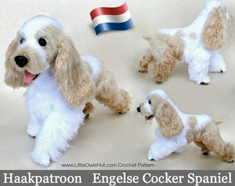 104NLA crochet pattern-English Cocker Spaniel dog-Amigurumi-PDF by Tširkova Etsy