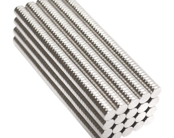 1,000 Pack - 1/4 x 1/16 Inch  (6.4 x 1.6 mm) N42, Collar Stay Neodymium Rare Earth Magnetic Discs, Strong Craft Disc Magnets