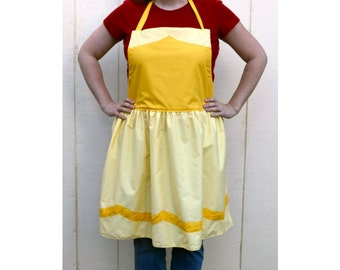 PRICES REDUCED! ~ Belle Dress Up Adult Apron ~   Basic or Decorative Princess Costume Apron for adults