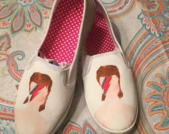 "David Bowie ""Aladdin Sane"" inspired shoes"