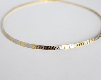 Gold & silver panel chocker necklace, panel choker necklace, choker necklace, gold choker, silver choker, choker necklace, zig zag choker