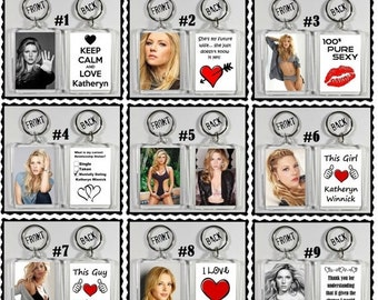 ON SALE NOW Katheryn Winnick Keychain Key Ring - Many Designs To Choose From