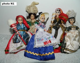 17 antique dolls, see 4 photos / old little dolls. vintage