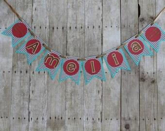 Amelia Banner • Nursery Decor • Name Banner • Baby Shower Decoration
