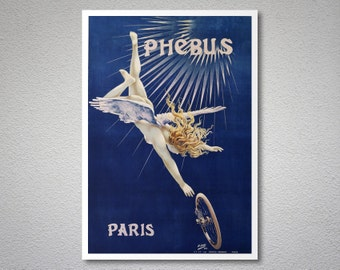 Cycles Phebus - Vintage Bicycle Poster, 1890 - Poster Print, Sticker or Canvas Print
