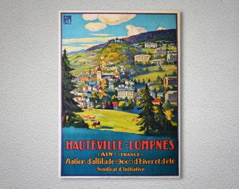 Hauteville Lompnes France Travel Poster - Poster Print, Sticker or Canvas Print