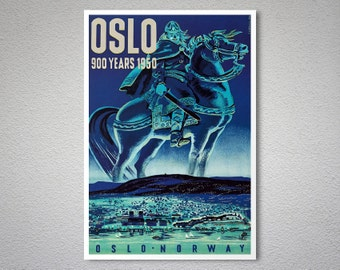 Oslo - Norway Travel Poster - Poster Print, Sticker or Canvas Print