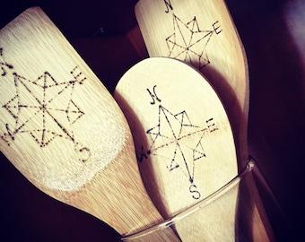 Bamboo Compass Kitchen Utensils