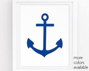 Anchor wall decor, Boat decor, Anchor wall art, Wall art nautical, Coastal artwork, Ocean prints, Navy art, Digital , 5x7, 8x10, 11x14 205