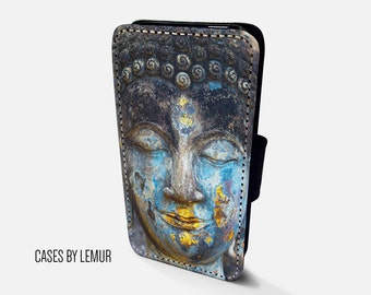 BUDDHA Iphone 5C Wallet Case Leather Iphone 5C Case Leather Iphone 5C Flip Case Iphone 5C Leather Wallet Case Iphone 5C Leather Sleeve