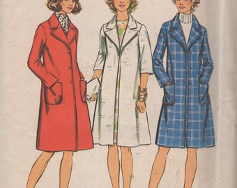 Misses Look Slimmer Coat  Sewing Pattern - Size 14 Bust 36 -  Simplicity  5526 - Uncut