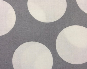 Half Moon Modern for Moda Half Yard Cut and Yardage Available White Circle on Grey 32357 32