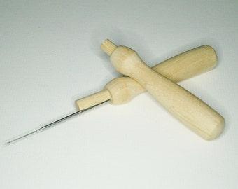 Felting Needle Holder - felting accessories - felting needles - 38 gauge star felting needles - free UK shipping
