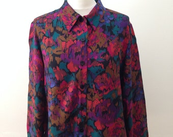1980's Bright Patterned Shirt