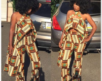 Kente pants suit