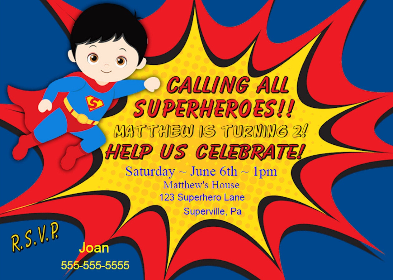 superhero invitation – funpartysupply