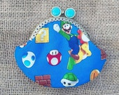 Handmade Super Mario Coin Purse Retro Pinup Rockabilly Geek