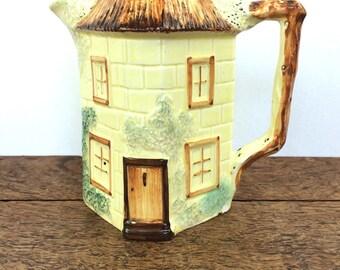 Vintage ceramic 'cottage ware' jug or pitcher, made in England