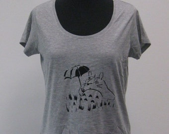 t-shirt women totoro miyasaki from S to XL
