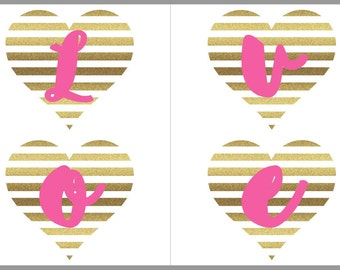 Loved A Brunch | Printable Shower Banner | Gold and Pink