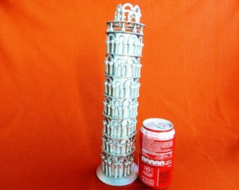 Christmas gift gift Tower of pisa steel sculpture Art metal recycling Tuscany art pisa pisa tower Pisa Tower gift art