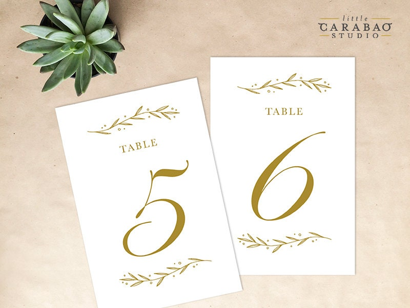 Printable table number floral digital table number wedding - Numero de table a imprimer ...