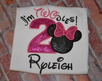 Minnie Mouse  birthday shirt/Minnie Mouse Birthday/I'm Twodoles Birthday shirt/Oh Toodles