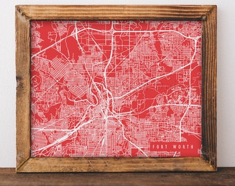 Fort Worth Map Art Fort Worth Print Fort Worth Art Print Fort Worth Poster Fort Worth Printable Fort Worth City Art Fort Worth Texas Art