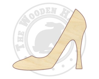High Heel Shoe - Unfinished Wood Shape - Wood Craft Shapes - 170399