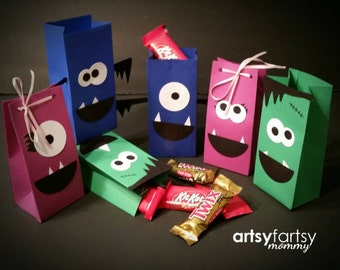 First birthday - Monster Birthday - Little Monster Party - Favor Goodie Bags - 10 ct.
