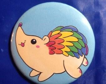 Rainbow Hedgehog Button