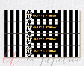 Juventus bottle labels. Juventus printables. Soccer bottle labels. Soccer printables.