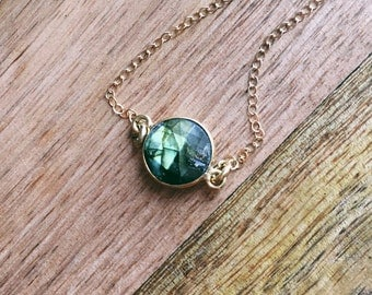 Labradorite Necklace - Gold Labradorite Necklace - Labradorite - Labradorite Jewelry - Dainty Necklace - Minimalist Necklace - Gift For Her