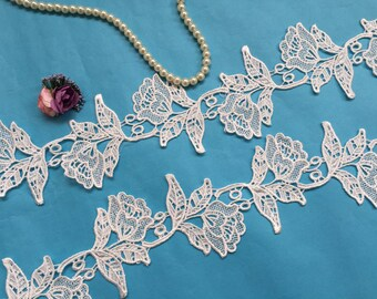 Embroidery Lace Trim, Flower Lace Trim, Venise Lace Trim, Sell By yard Z030